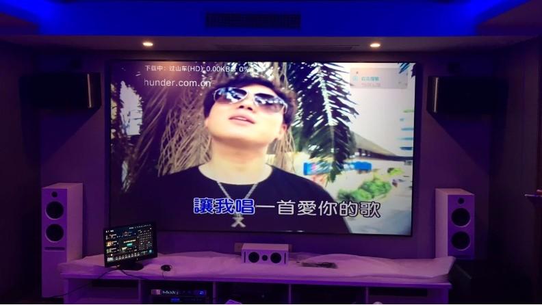 麦景龙为陕西某别墅提供家庭KTV影院
